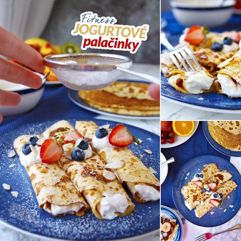 Fit jogurtové palačinky - recept Bajola