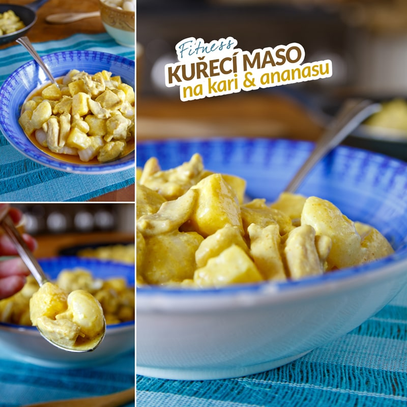 Fit kuřecí maso na ananasu a kari - recept Bajola