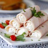 Fit šunkové rolky s křenem - recept Bajola