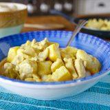 Fitness kuřecí maso na kari a ananasu - recept Bajola