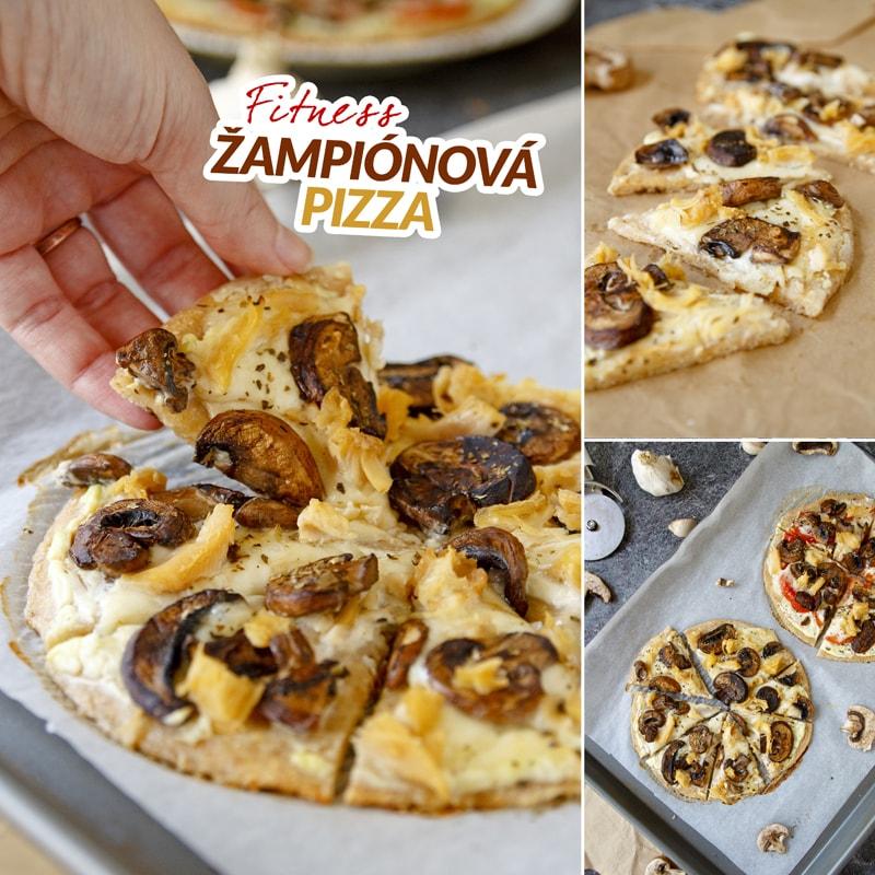 Fitness žampiónová pizza - recept Bajola