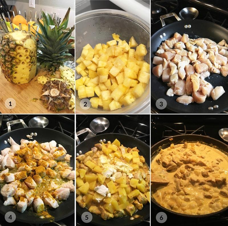 Kuřecí na ananasu - postup receptu