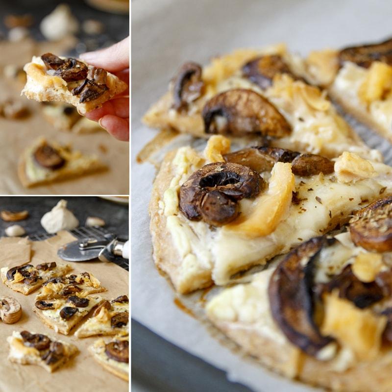 Zdravá pizza se žampiony - recept Bajola