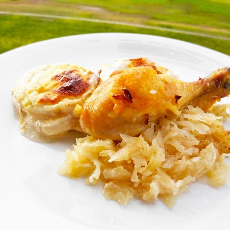 Fitness kuře na zelí - zdravý recept Bajola