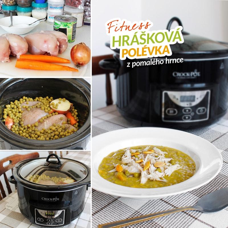 Fitness hrášková polévka z pomalého hrnce - zdravý recept Bajola