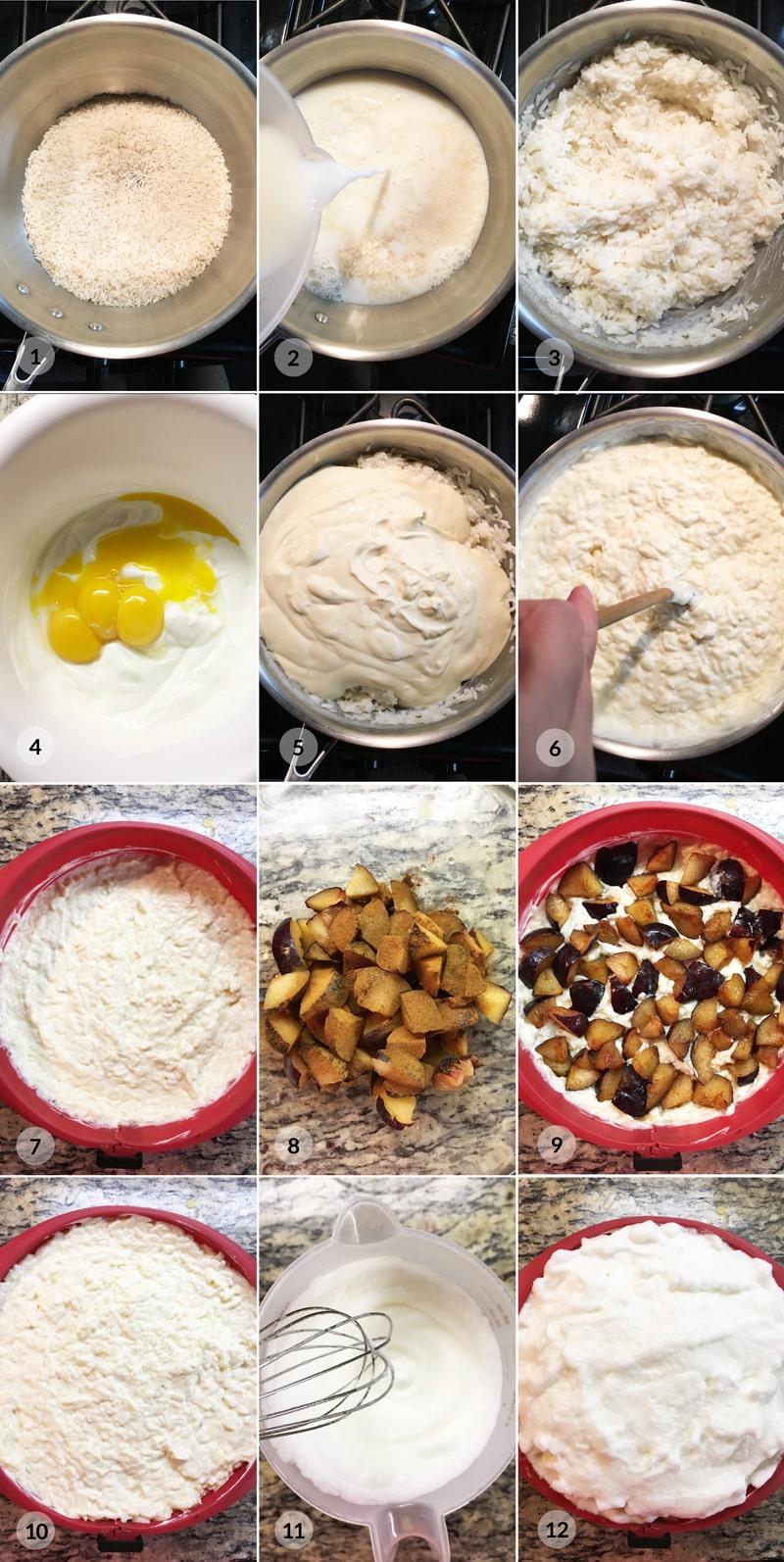 Foto postup receptu na fitness rýžový nákyp se švestkami