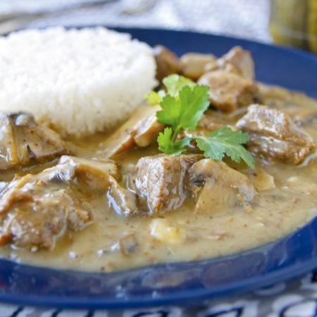 Hovězí na houbách - fitness zdravý recept Bajola