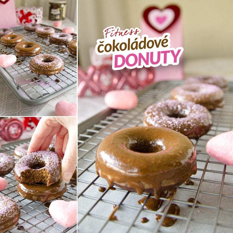 Fit domácí donuty čokoládové recept Bajola