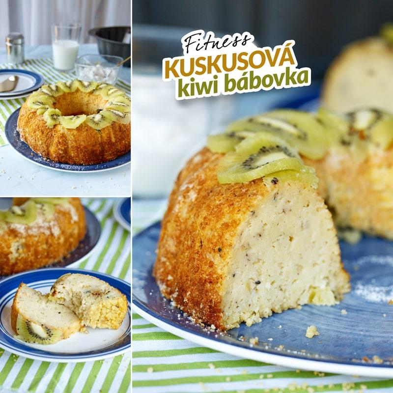 Fitness kuskusová kiwi bábovka - recept Bajola