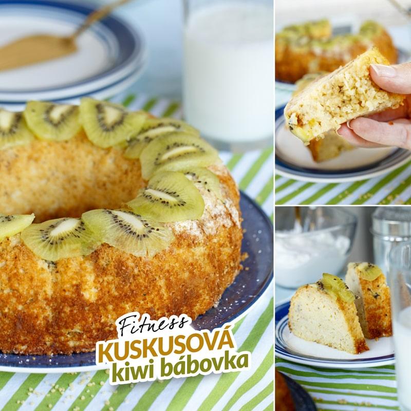 Zdravá kuskusová kiwi bábovka - recept Bajola