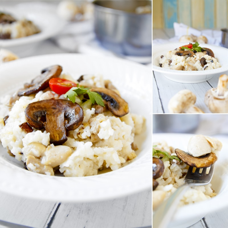 Zdravé houbové rizoto - recept Bajola
