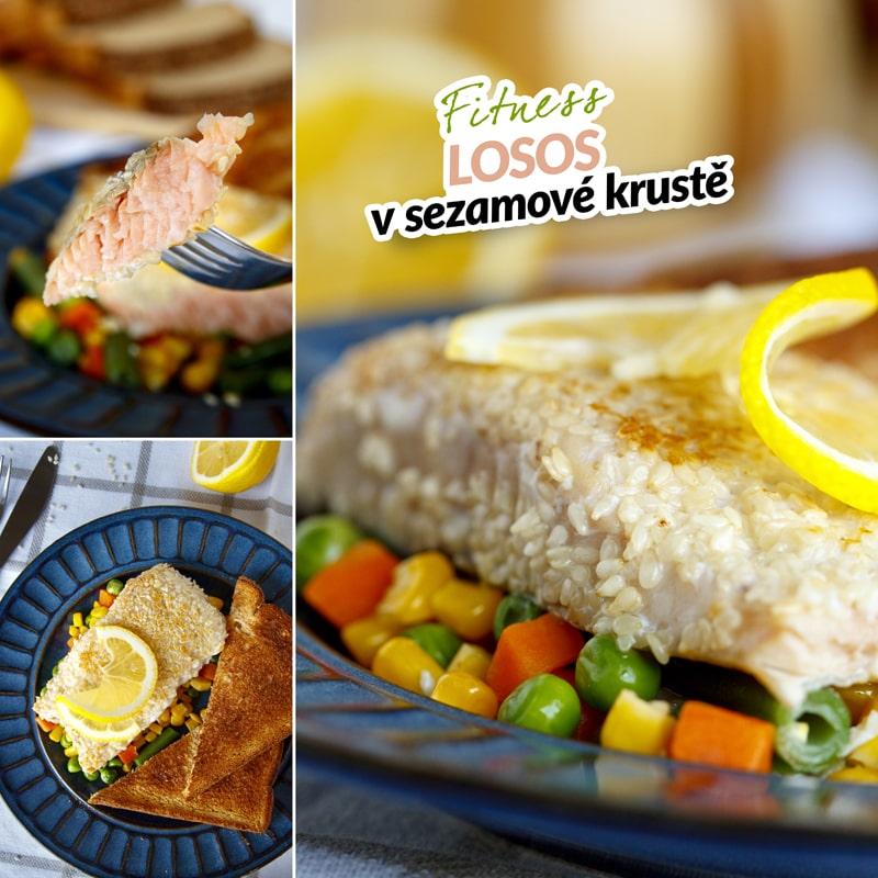Fit losos v sezamu - recept Bajola