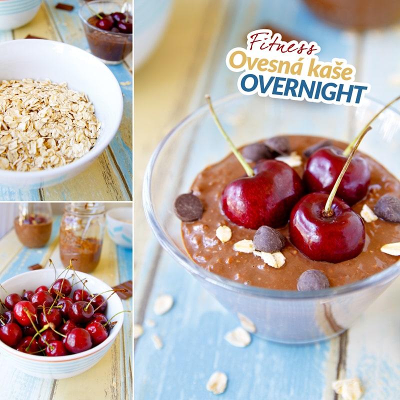 Fitness proteinová ovesná kaše overnight a třešně - recept Bajola