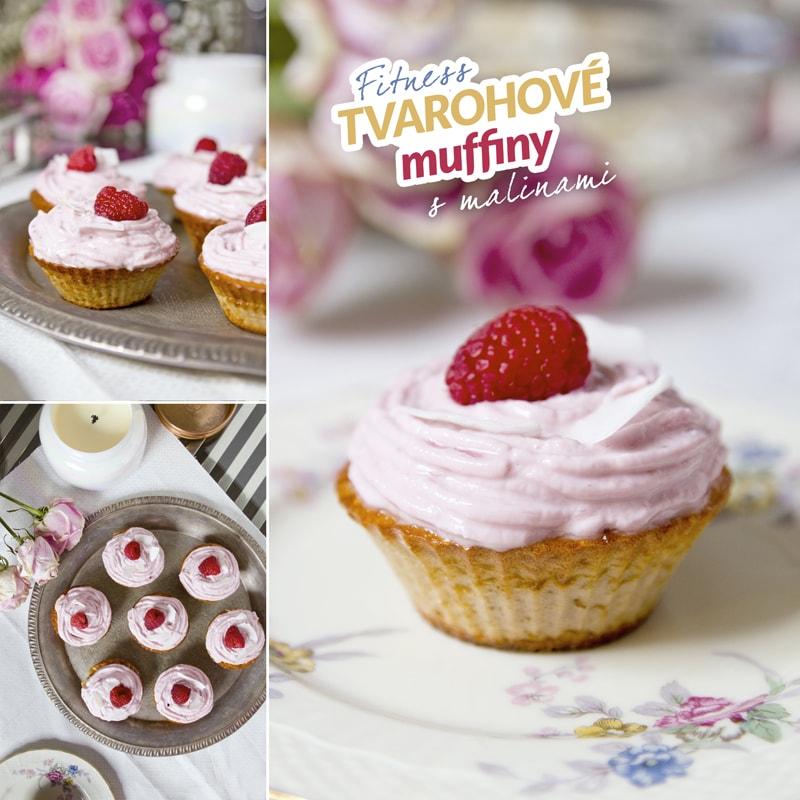Fitness tvarohové muffiny maliny - recept Bajola