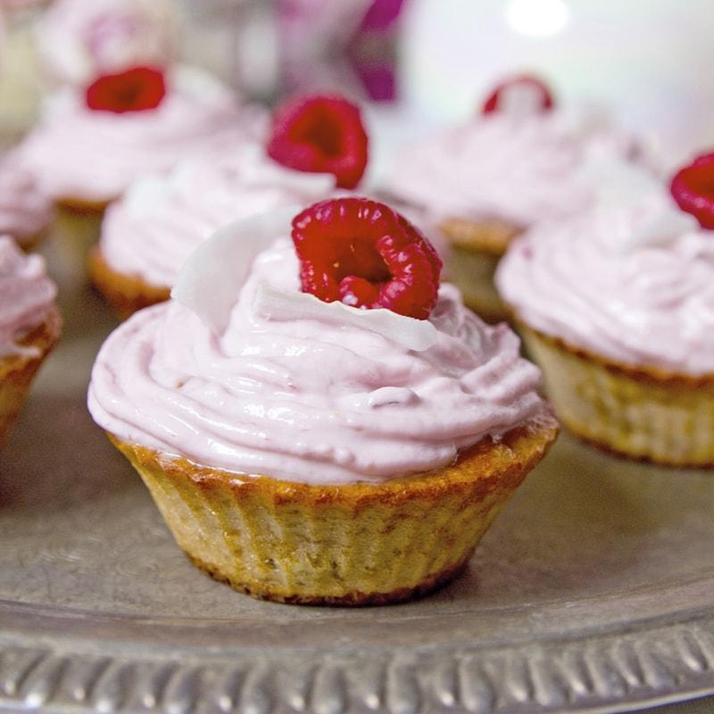 Fitness tvarohové muffiny s malinami - recept Bajola