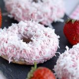 Fit jahodové donuty - recept Bajola