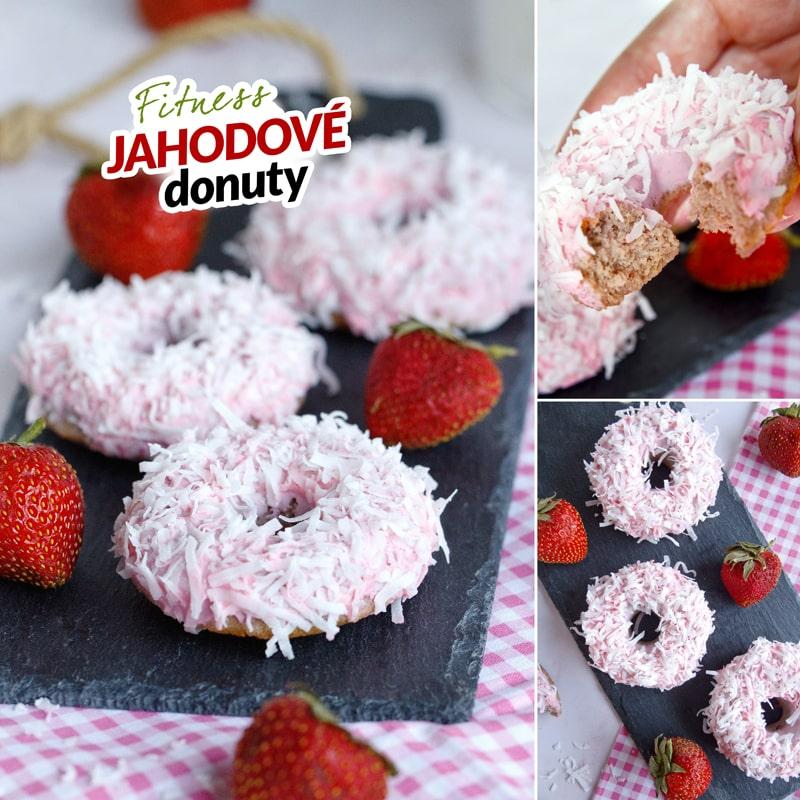 Fitness jahodové donuty - recept Bajola
