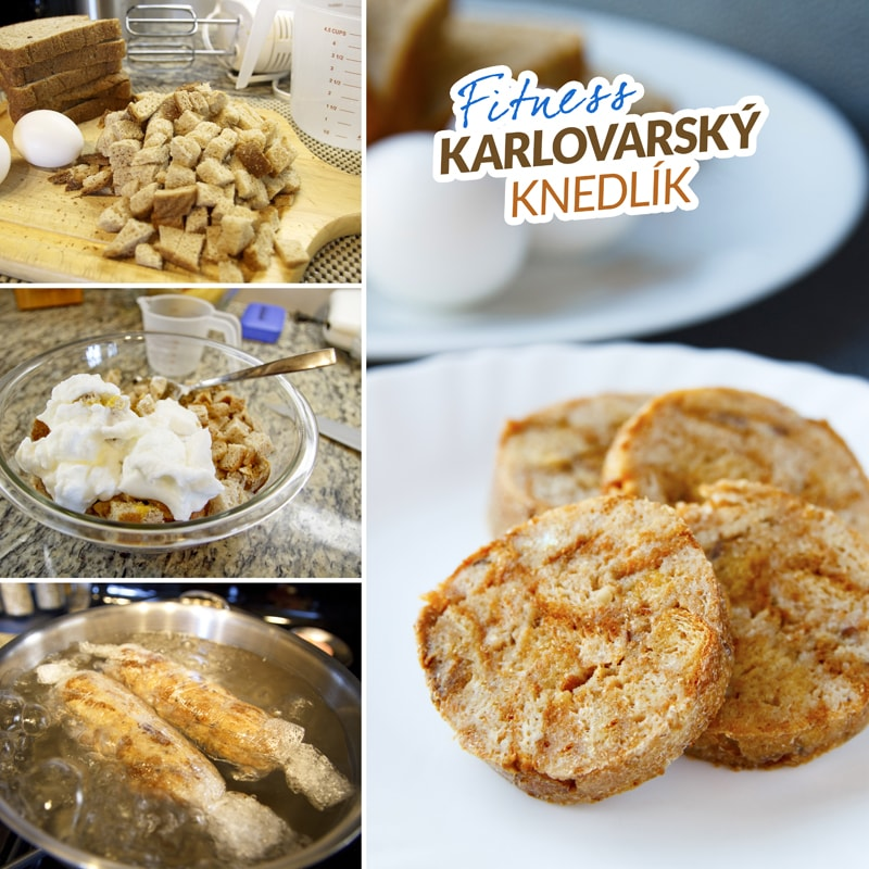 Fitness karlovarský knedlík - zdravý fit recept Bajola