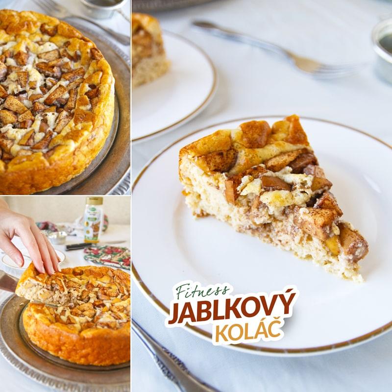 Fitness jablkový koláč z ovesných vloček - zdravý recept by Bajola