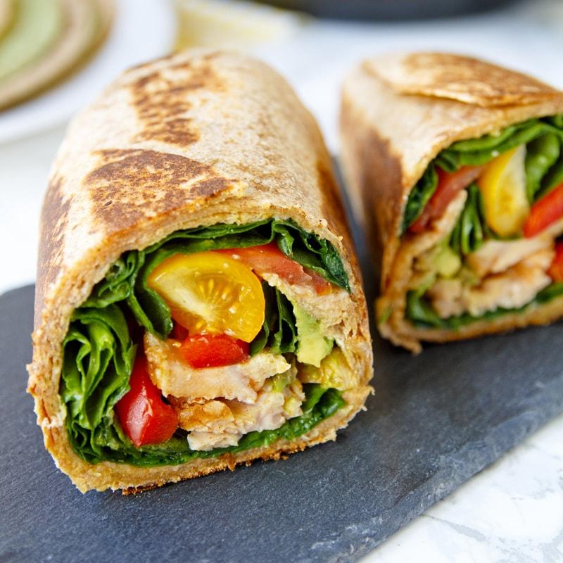 Fitness tortilla s kuřecím masem - burrito - recept Bajola