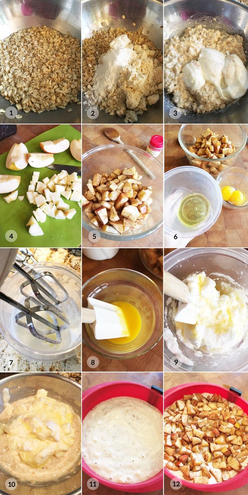 Ovesný jablkový koláč - zdravý fitness recept by Bajola