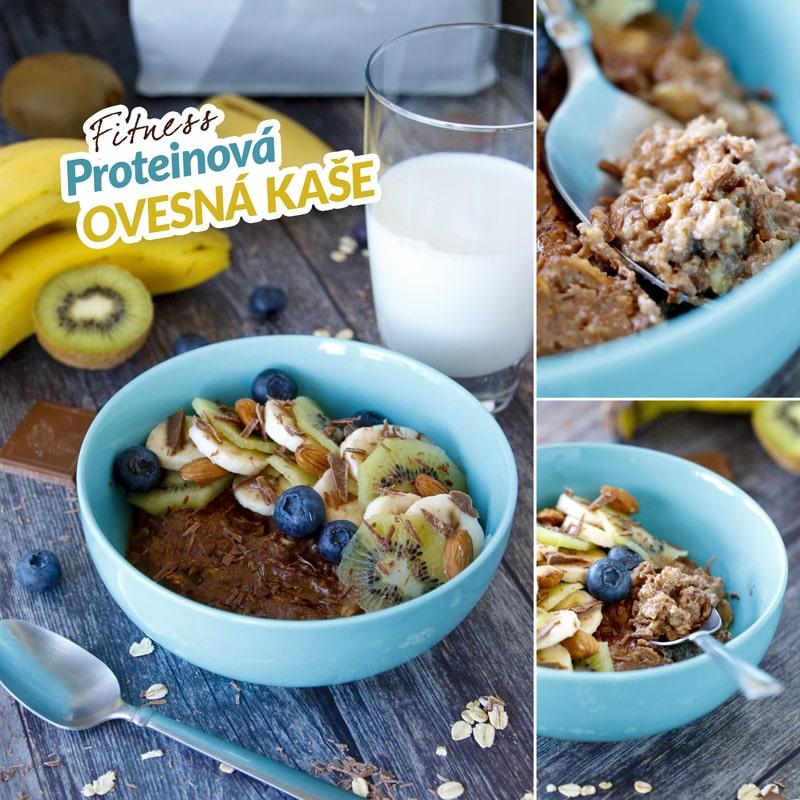 Zdravá domácí ovesná kaše s ovocem a ořechy recept Bajola