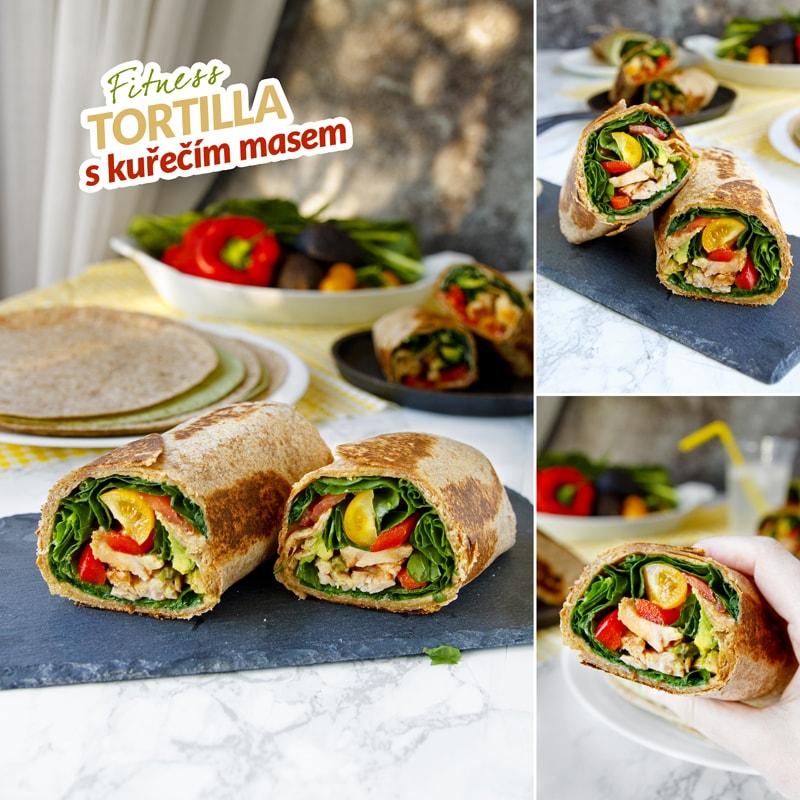 Zdravá tortilla s kuřecím masem burrito recept Bajola