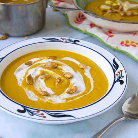 Fit dýňovo hrachová polévka - recept Bajola