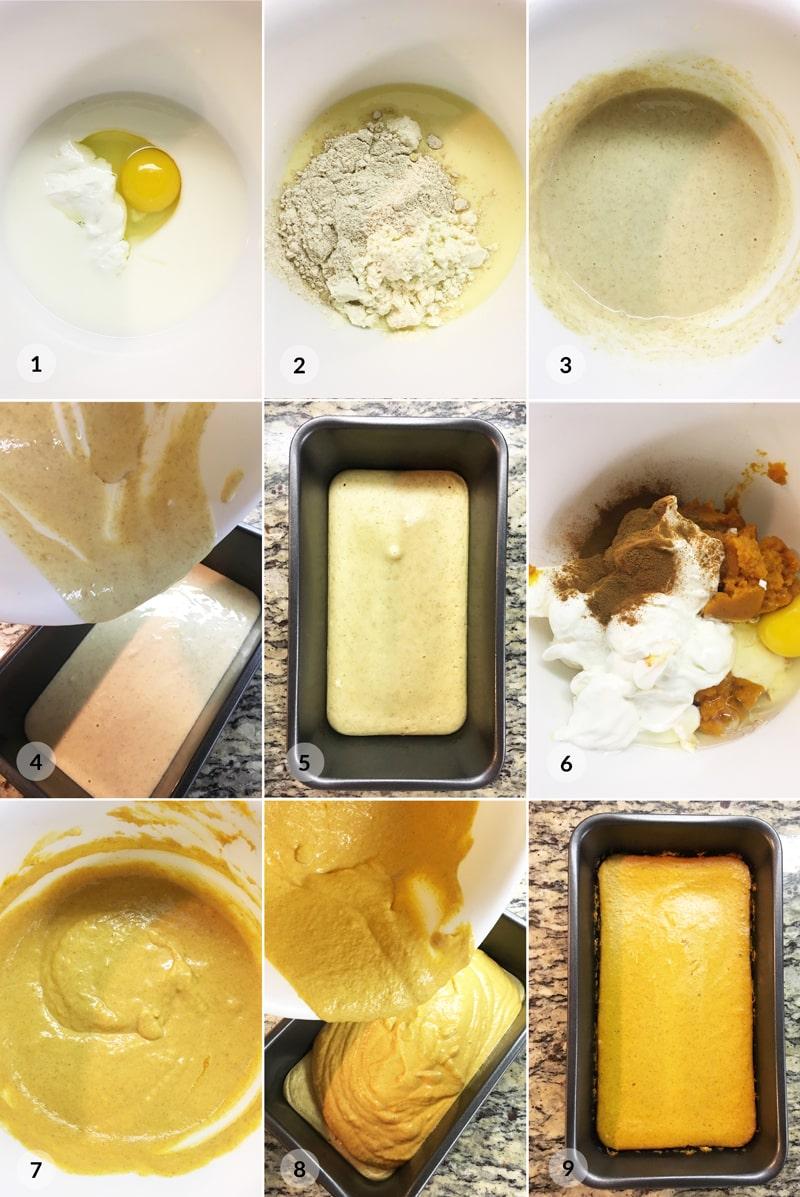Fit dýňový chlebíček - foto postup receptu