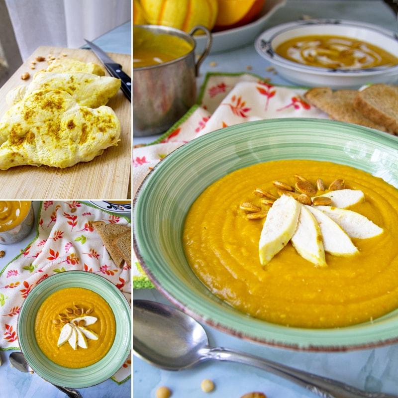 Fit hustá polévka z dýně a hrachu - recept Bajola