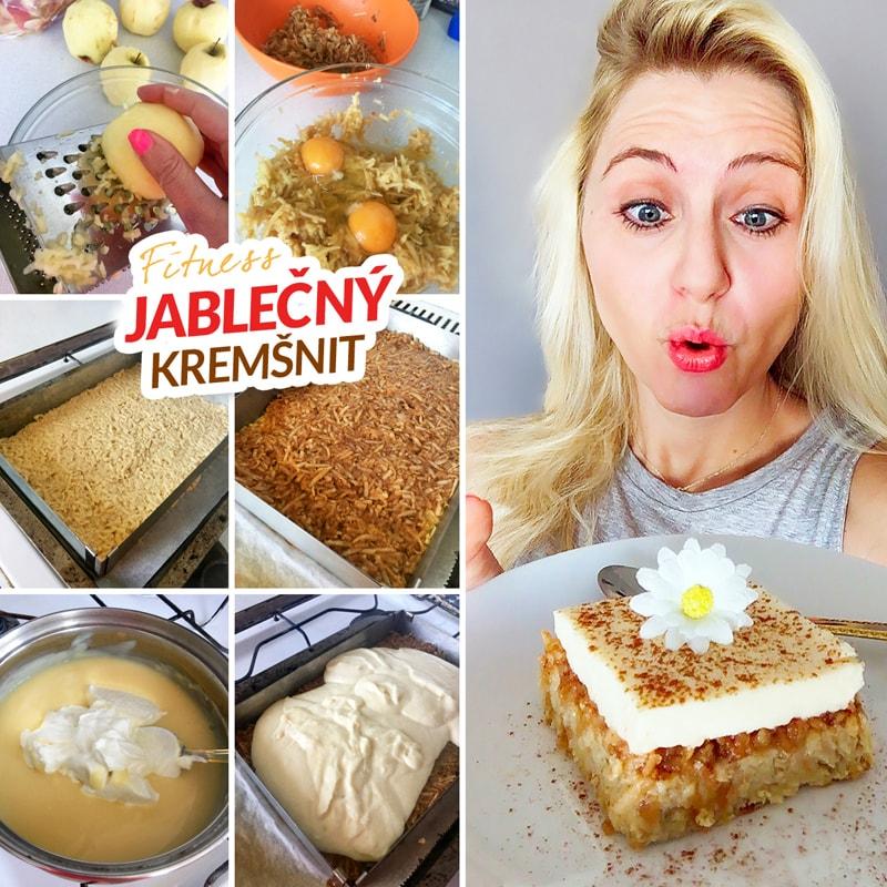 Fitness jablečný kremšnit - zdravý recept Bajola
