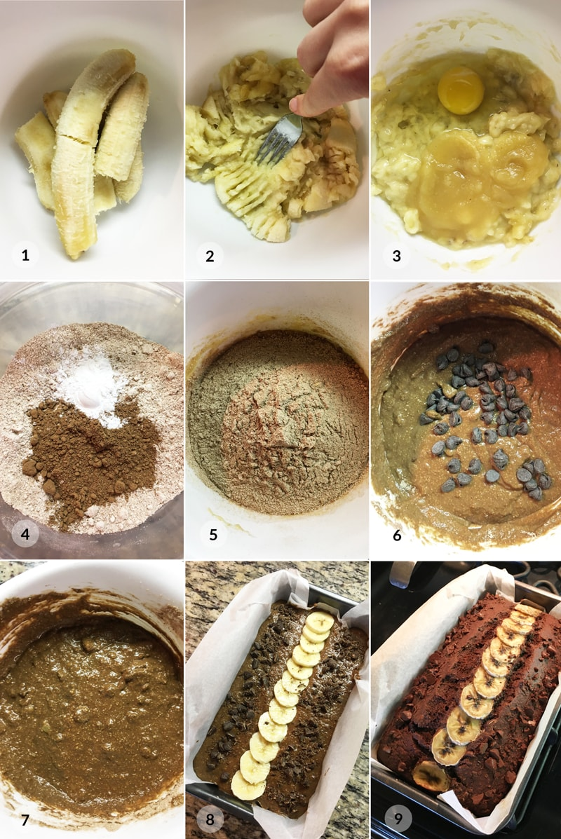 Banánový chlebíček recept foto postup