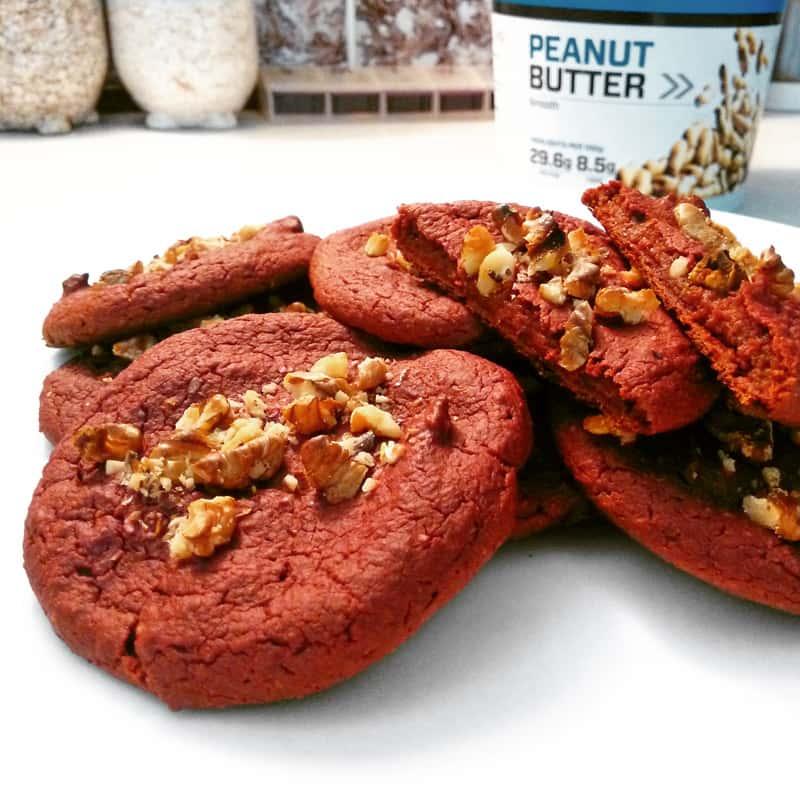 Zdravé fitness cookies z červené řepy