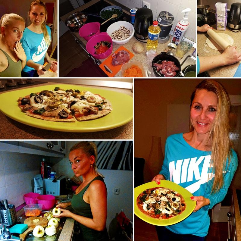 Tuňáková fitness pizza - recept Bajola