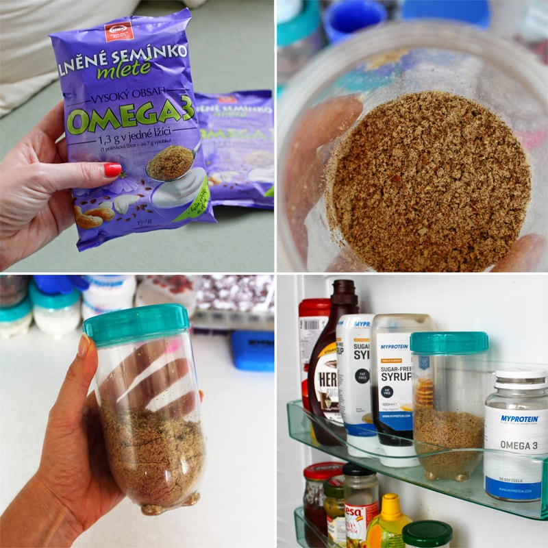 Mleté lněné semínko uchovávejte v lednici