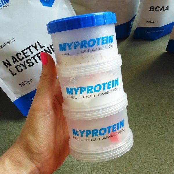 Nádobky na protein MyProtein