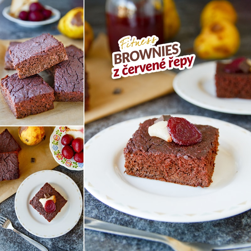 Fitness brownies z červené řepy - recept Bajola