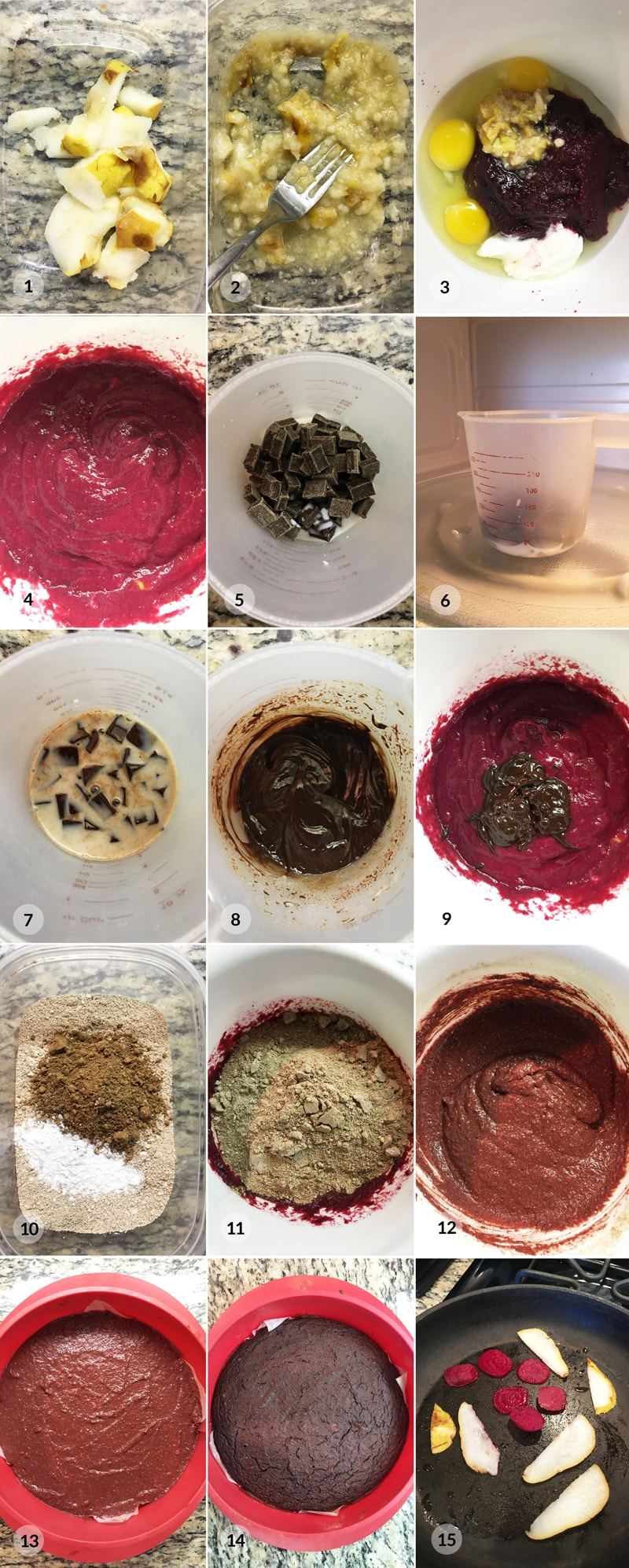 Fitness brownies z řepy - foto postup