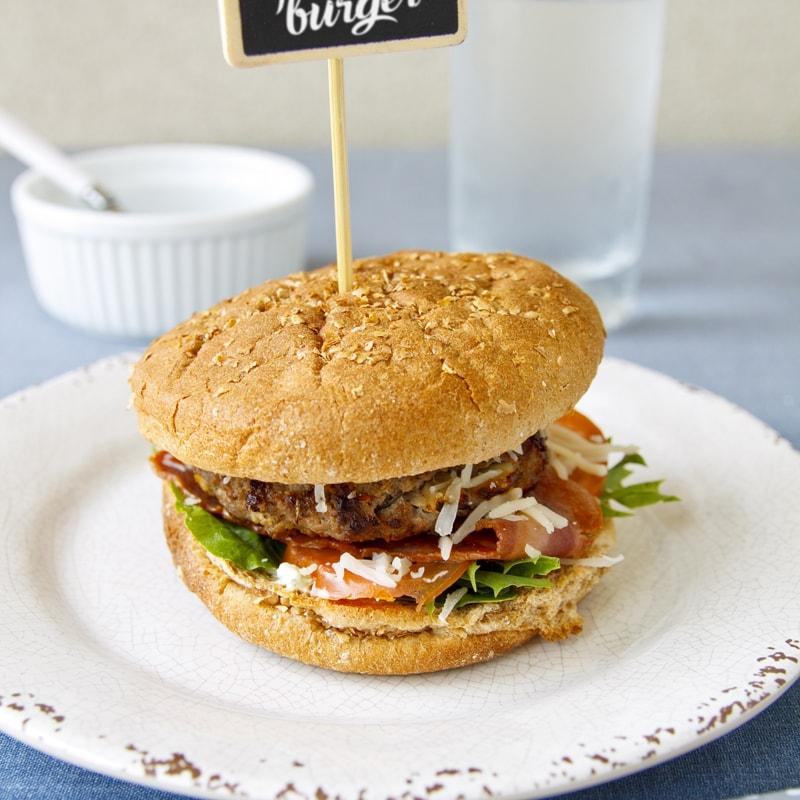 Fitness domácí hamburger hovězí - zdravý recept Bajola