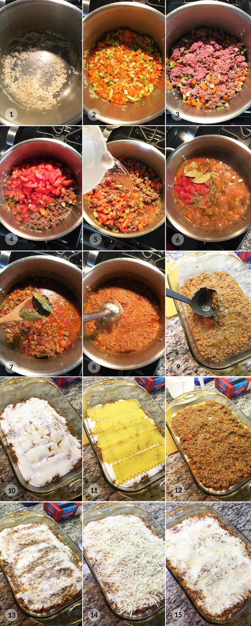 Fit lasagne - foto postup receptu