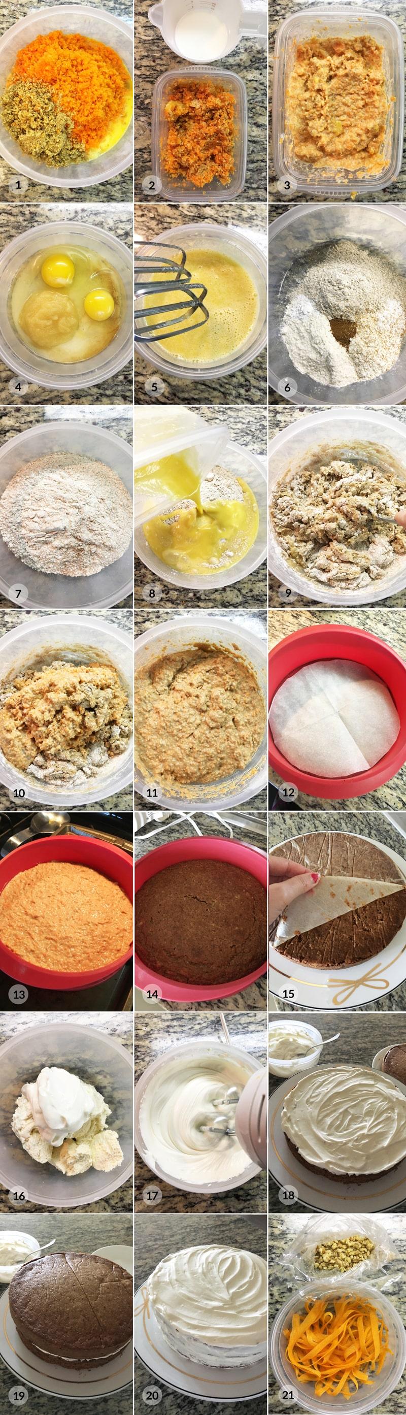 Mrkvový dort foto postup receptu