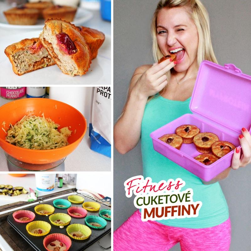 Fitness cuketové muffiny recept Bajola
