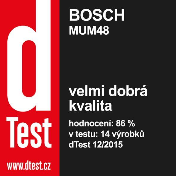Kuchyňský robot Bosch MUM 48R1 červený - dTest