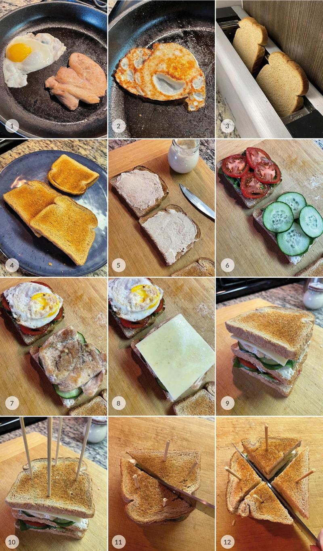 Club sendvič podle Pohlreicha - foto postup