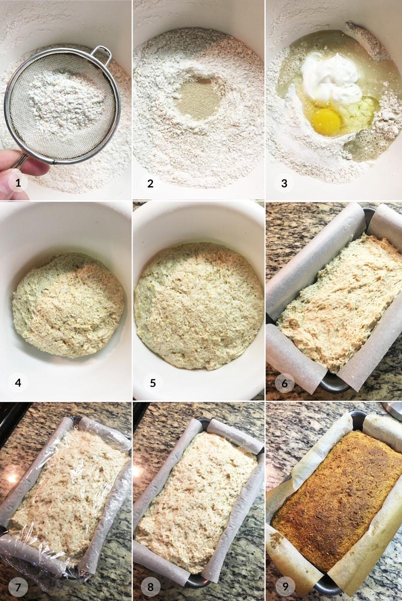 Domácí celozrnný chleba - recept foto postup