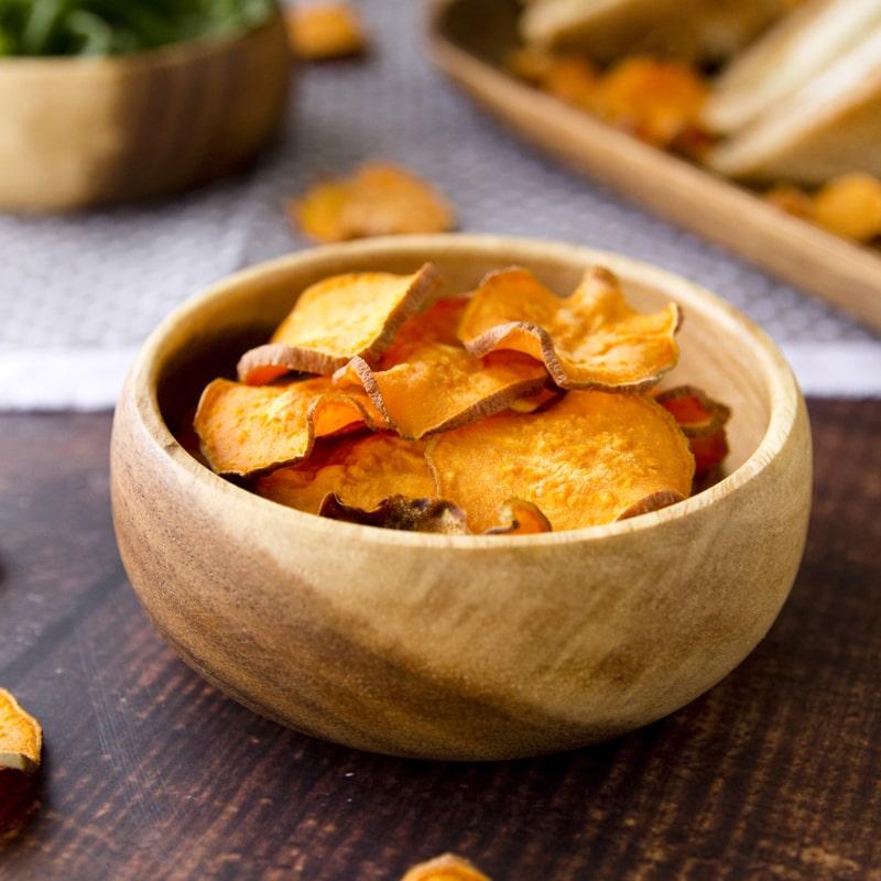 Fit batátové chipsy bez smažení - recept Bajola