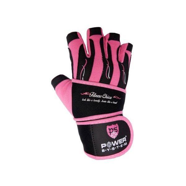Dámské fitness rukavice power system růžové