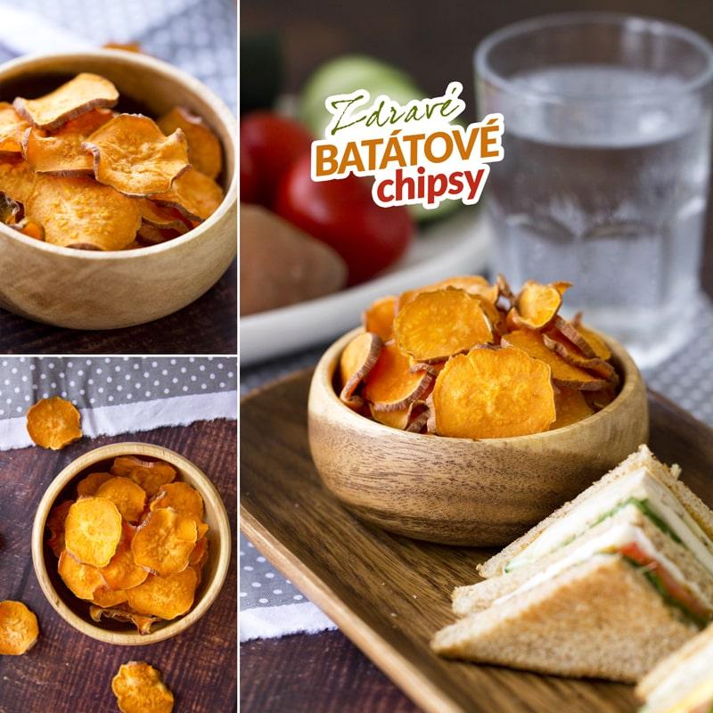 Zdravé batátové chipsy bez smažení - recept Bajola