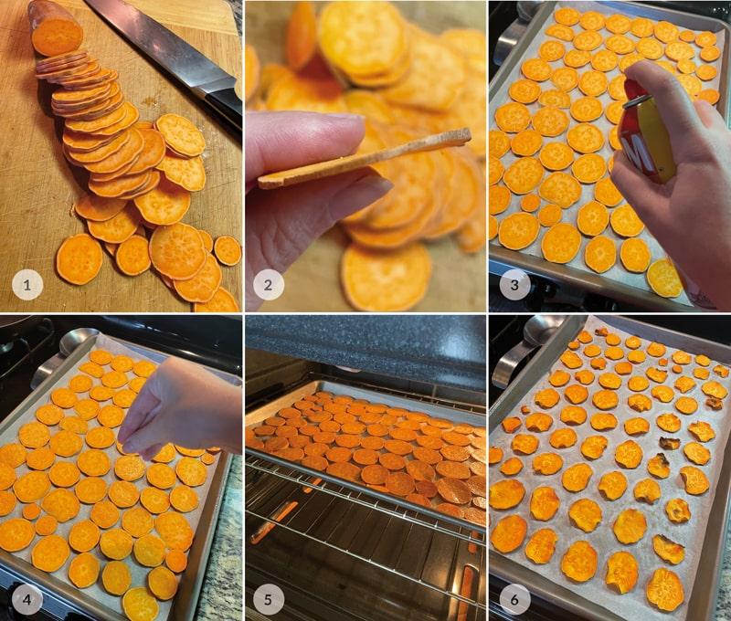 Zdravé chipsy bez smažení - foto postup
