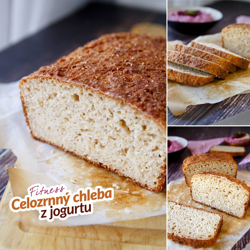 Zdravý domácí celozrnný chleba jogurtový - recept Bajola